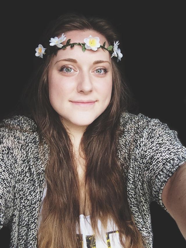 flower selfie